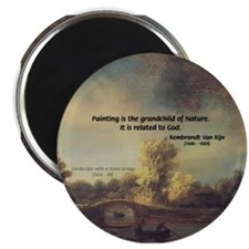 "Rembrandt: on God & Painting 2.25"" Magnet (10 pack"
