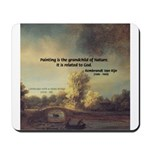 Rembrandt: on God & Painting Mousepad
