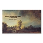 Rembrandt: on God & Painting Rectangle Sticker