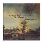 Rembrandt: on God & Painting Tile Coaster