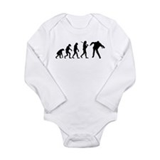 The Evolution Of Zombies Long Sleeve Infant Bodysu