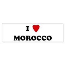 I Love Morocco Bumper Car Sticker