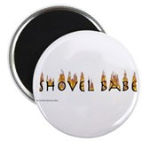 "Shovel Babe - flames 2.25"" Magnet (10 pack)"
