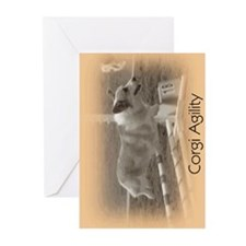 Corgi Agilty Greeting Cards (Pk of 10)