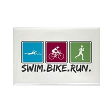 Swim Bike Run Rectangle Magnet (10 pack)
