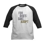 For Dog's Sake, Adopt Kids Baseball Jersey