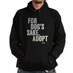 For Dog's Sake, Adopt Hoodie (dark)