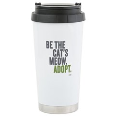 Be The Cat's Meow, Adopt Ceramic Travel Mug