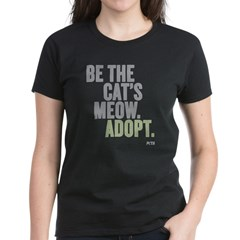 Be The Cat's Meow, Adopt Women's Dark T-Shirt