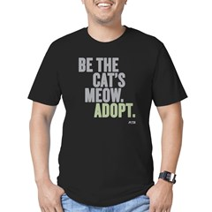 Be The Cat's Meow, Adopt Men's Fitted T-Shirt (dar