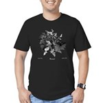 Fibonacci Bats Men's Fitted T-Shirt (dark)