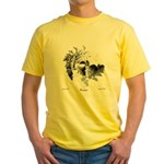 Fibonacci Bats Yellow T-Shirt