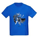 Fibonacci Bats Kids Dark T-Shirt