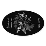 Fibonacci Bats Sticker (Oval)