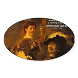 Art & Atmosphere Rembrandt Oval Decal