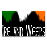 Ireland Weeps Rectangle Decal