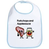 Pork Chop and Applesauce Bib