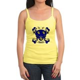 Aubrey Family Crest Skull Ladies Top