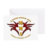 MMA Logo 2 - Gold Red - Greeting Cards (Pk of 10)