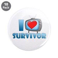 "I Heart Survivor 3.5"" Button (10 pack)"
