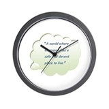 Cute More shacks Wall Clock