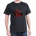 Fibonacci Bats Red Dark T-Shirt