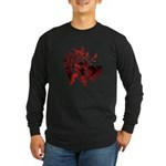 Fibonacci Bats Red Long Sleeve Dark T-Shirt