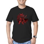 Fibonacci Bats Red Men's Fitted T-Shirt (dark)