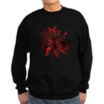 Fibonacci Bats Red Sweatshirt (dark)