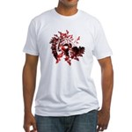 Fibonacci Bats Red Fitted T-Shirt
