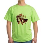 Fibonacci Bats Red Green T-Shirt