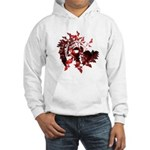Fibonacci Bats Red Hooded Sweatshirt