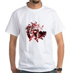 Fibonacci Bats Red White T-Shirt