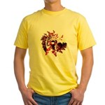 Fibonacci Bats Red Yellow T-Shirt