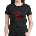 Fibonacci Bats Red Women's Dark T-Shirt
