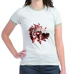Fibonacci Bats Red Jr. Ringer T-Shirt
