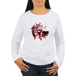 Fibonacci Bats Red Women's Long Sleeve T-Shirt