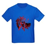 Fibonacci Bats Red Kids Dark T-Shirt