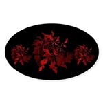 Fibonacci Bats Red Sticker (Oval 50 pk)