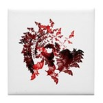 Fibonacci Bats Red Tile Coaster