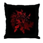 Fibonacci Bats Red Throw Pillow
