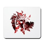 Fibonacci Bats Red Mousepad