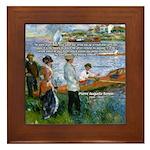 Renoir Painting: Art & Beauty Framed Tile