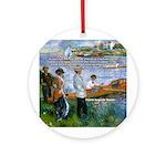 Renoir Painting: Art & Beauty Ornament (Round)