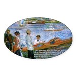 Renoir Painting: Art & Beauty Oval Sticker