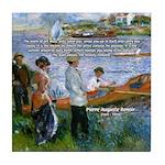 Renoir Painting: Art & Beauty Tile Coaster