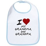 i heart my grandma and grandp Bib