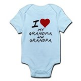 i heart my grandma and grandp Infant Bodysuit