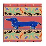 The Famous Blue Dachshund Art Tile Coaster