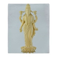 Hindu TriDevi Goddess Statue Art Throw Blanket